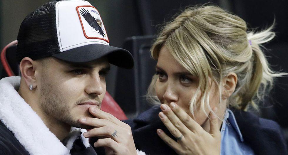 Wanda Nara, esposa y agente de Mauro Icardi, indicó que han reiniciado el diálogo con el Inter de Milán para terminar con el conflicto. (Foto: AP)