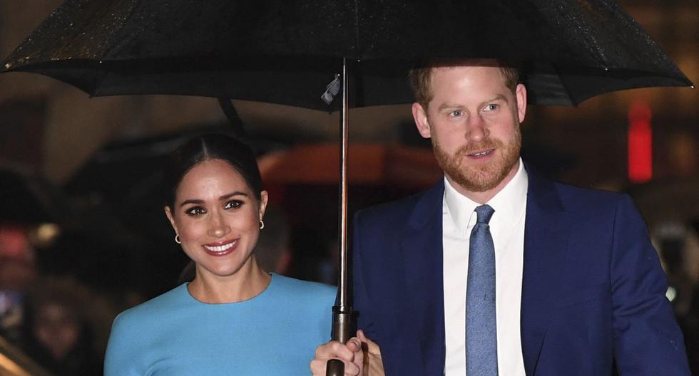 Imagen del príncipe Harry y Meghan Markle. (Foto de DANIEL LEAL-OLIVAS / AFP).