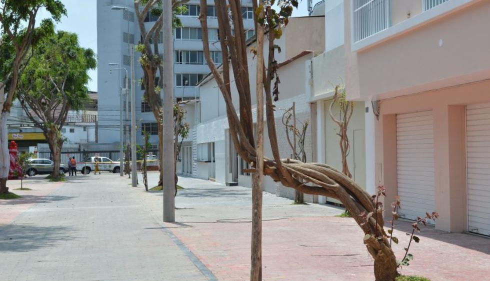 Locales de la calle de las Pizzas fueron reabiertos este jueves. (Foto: Municipalidad de Miraflores)