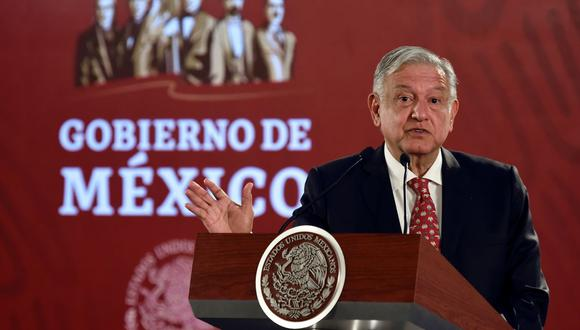 E presidente de México, Andrés Manuel López Obrador (AMLO), expresó esta medida en la conferencia matutina. (Foto: AFP)