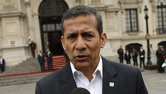 Ollanta Humala dijo que no se llegó al acuerdo gracias a las protestas violentas. (Roberto Cáceres)