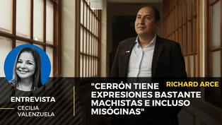 """Richard Arce: """"Vladimir Cerrón tiene expresiones bastante machistas e incluso misóginas"""""""