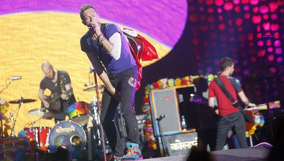 """Coldplay estrenó desde el espacio su nueva canción """"Higher Power"""". (Foto: AFP)"""