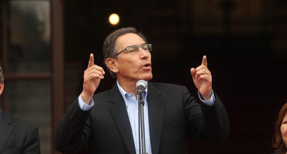 El presidente Martín Vizcarra reiteró su compromiso de lucha contra la corrupción. (Foto: Rolly Reyna / GEC / Video: TV Perú)