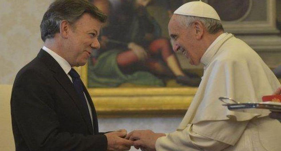 Papa Francisco se reune hoy con el presidente Juan Manuel Santos (AFP)
