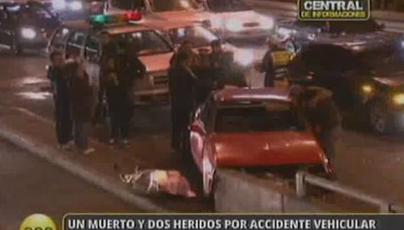El accidente ocasionó el cierre del tránsito. (RPP TV)