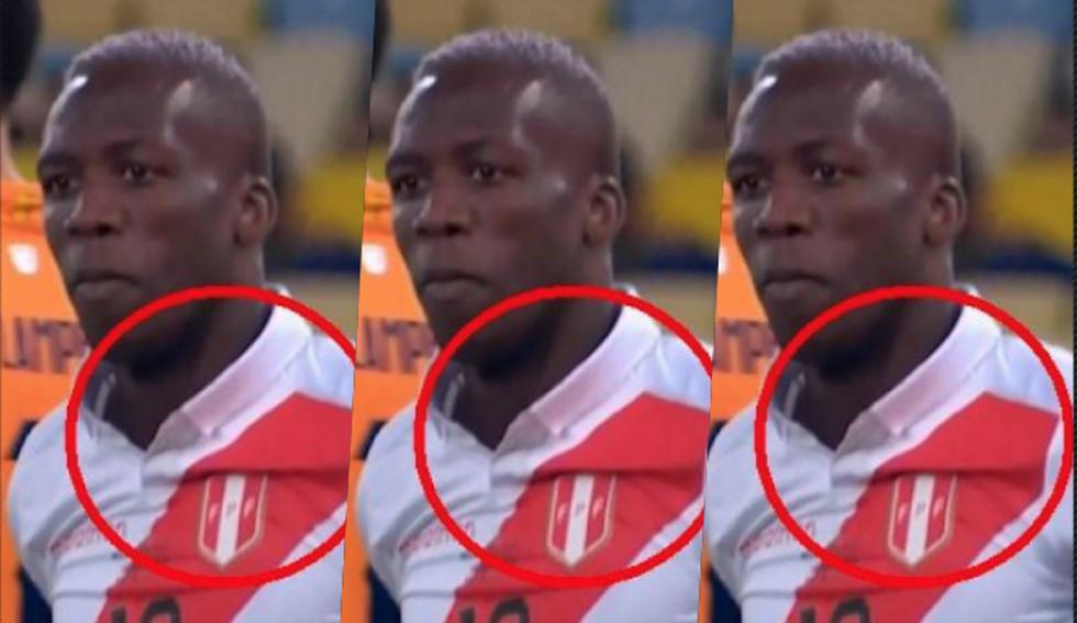 Camiseta de Perú se habría despintado en el partido de Copa América Brasil 2019. (Captura Twitter)