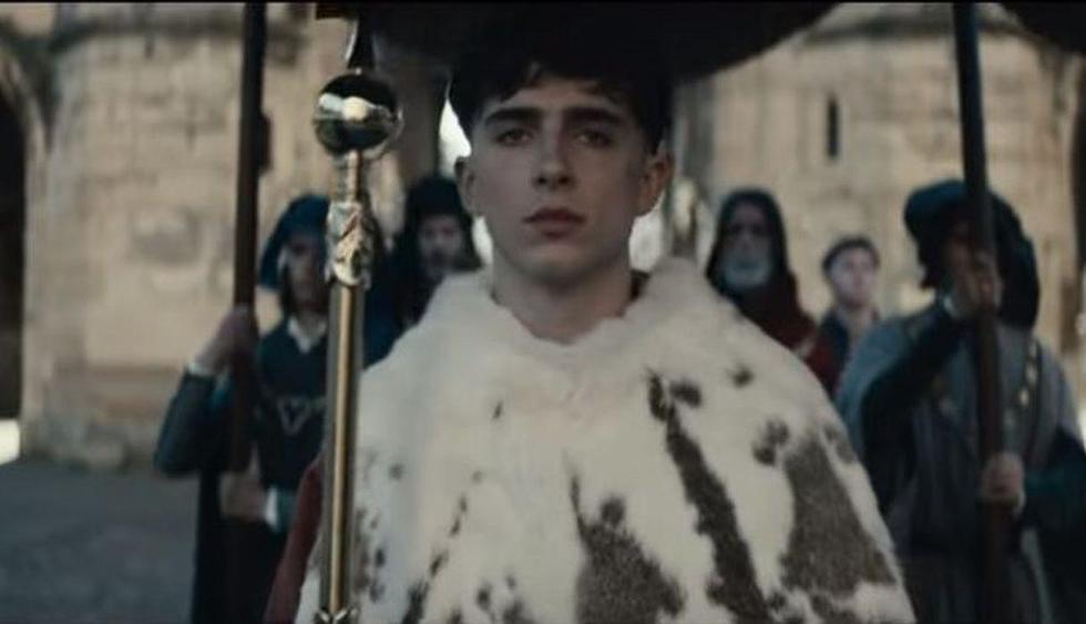 """La serie de Netflix """"The King"""", con Timothée Chalamet, lanzó nuevo tráiler. (Imagen: Captura Netflix)"""