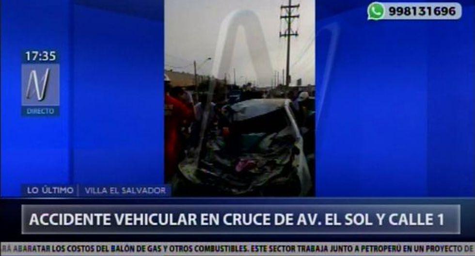 Accidente en Villa El Salvador. (Foto: Canal N)