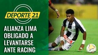 Alianza Lima obligado a levantarse ante Racing