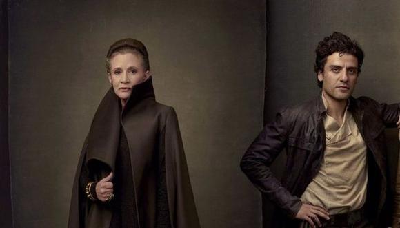 'Star Wars': Carrie Fisher le pegó 27 veces a 'Poe Dameron' (Disney)