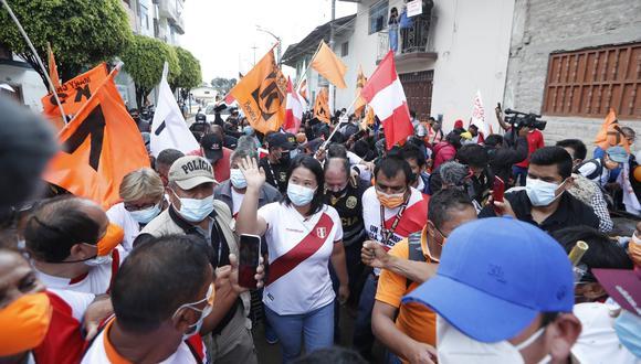La lideresa del fujimorismo recibe respaldo de Victoria Nacional. (Foto: Hugo Pérez / @photo.gec)