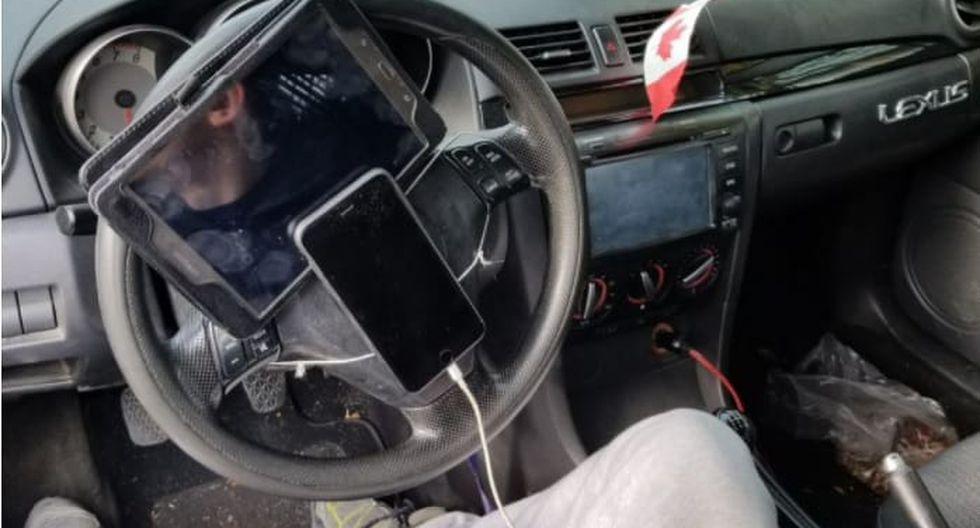 El conductor tampoco llevaba consigo su licencia de conducir. (@VPDTrafficUnit en Twitter)