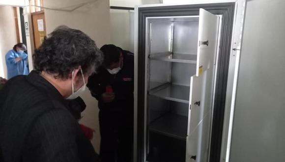 Puno: Diresa adquirió una congeladora para conservar vacunas contra el COVID-19 (Foto: Diresa Puno)