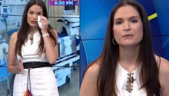 Lorena Álvarez se quiebra tras testimonio de hombre que busca cama hospitalaria para su madre. (Foto: captura de video)