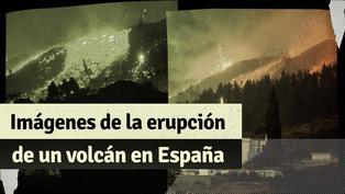 España: impactantes imágenes de la erupción del volcán Cumbre Vieja en las islas Canarias