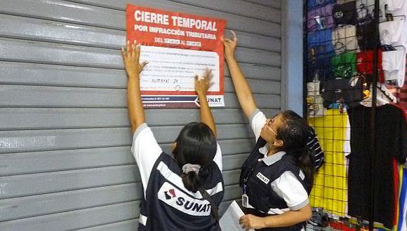 Sunat cerró varios locales en Lima. (Sunat)