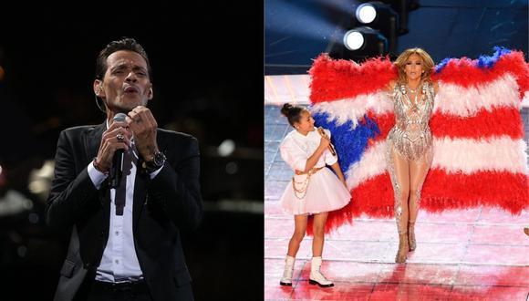 Marc Anthony expresa su felicidad tras ver a su hija en el Super Bowl 2020. (Foto: AFP)