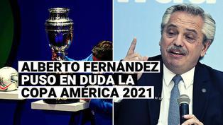 Presidente de Argentina hizo sorpresiva advertencia sobre la Copa América 2021
