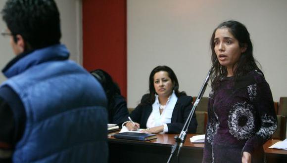 LO ENCARÓ. 'Elita' Espino levantó la voz en varios pasajes de la audiencia y dijo una serie de groserías. (David Vexelman)