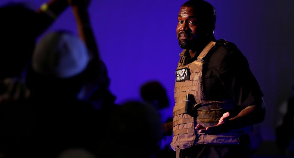 El rapero Kanye West celebra su primer mitin en apoyo de su candidatura presidencial en North Charleston, Carolina del Sur (Estados Unidos). Imagen del 19 de julio de 2020. (REUTERS/Randall Hill).