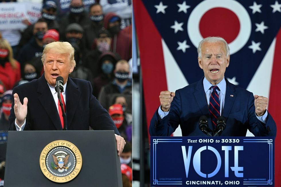 EN VIVO | Donald Trump vs. Joe Biden, voto a voto para definir al próximo presidente de los Estados Unidos. (AFP / MANDEL NGAN AND JIM WATSON).