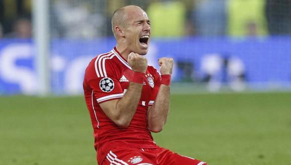 Robben grita su gol marcado en el minuto 88. (AP)