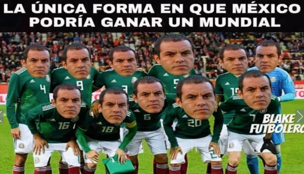 Memes de México vs. Alemania. (Facebook)