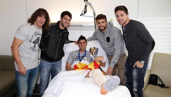 Fábregas compartió la imagen en Twitter. (@cesc4official)