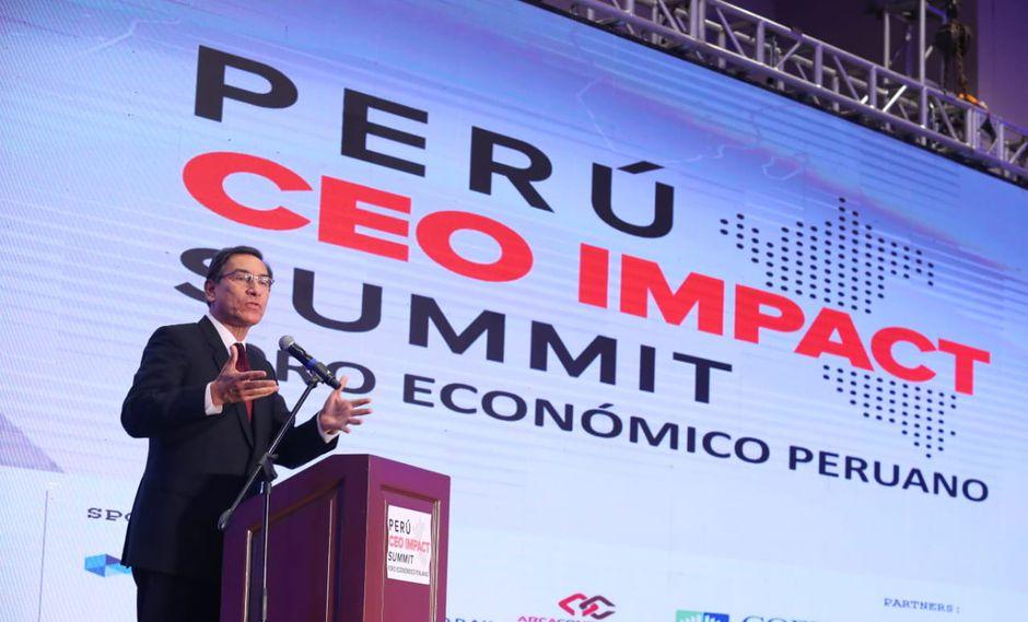 El presidente Martín Vizcarra se reunió este lunes con seis bancadas para dialogar sobre el adelanto de elecciones. (Foto: Presidencia)