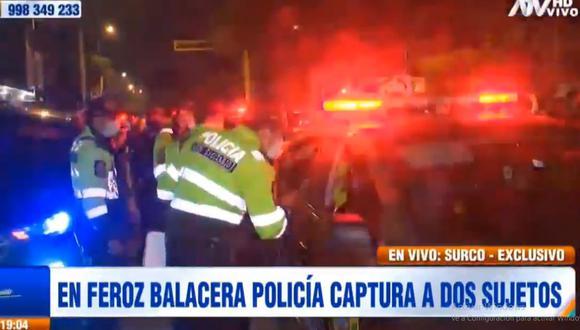 Los policías de varias comisarías cercanas participaron en la persecución a los sujetos. (ATV)