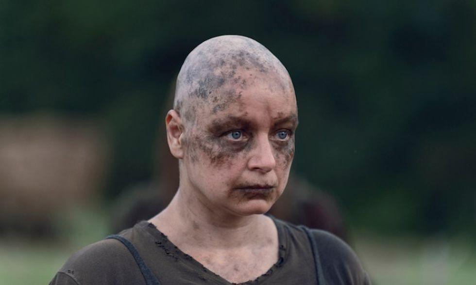 Alpha era una superviviente del apocalípsis zombie y en los c´mocs muere a manos de Negan (Foto: AMC)
