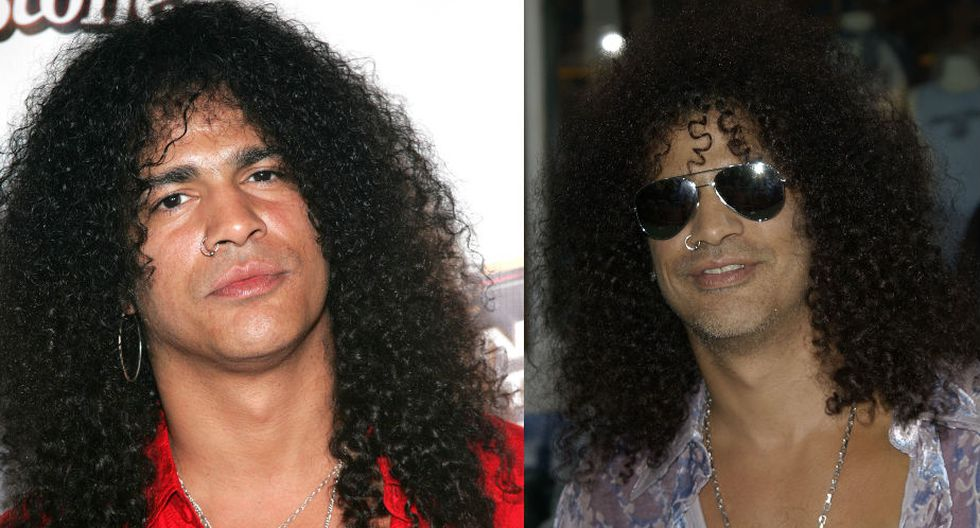 """Slash sostuvo en una entrevista con El País de España en 2010, que era muy tímido para cantar. """"Puedo hacerlo, pero no me gusta. Soy un puto guitarrista, no un autor"""". (AFP)"""