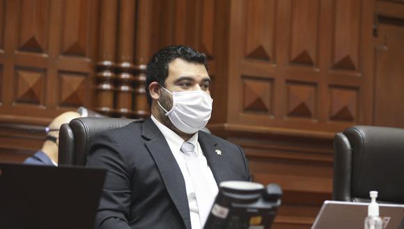 El congresista Guillermo Aliaga recordó que la ciudadanía también se ha pronunciado en contra de la eventual vacancia de Vizcarra. (Foto: Congreso)
