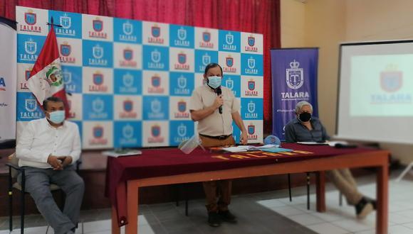 Alcalde retomó sus funciones en la comuna (Foto: Municipalidad de Talara)