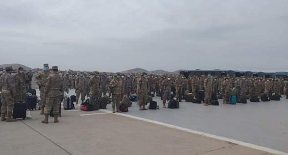 Ica: Llegan 300 efectivos de la FAP para hacer cumplir estado de emergencia y toque de queda.