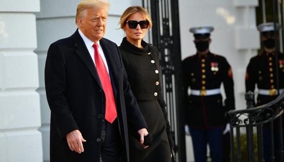 """El domingo, en su primer discurso desde que dejó el poder el 21 de enero, Donald Trump dijo que """"todos deberían vacunarse"""". (Foto: MANDEL NGAN / AFP)"""