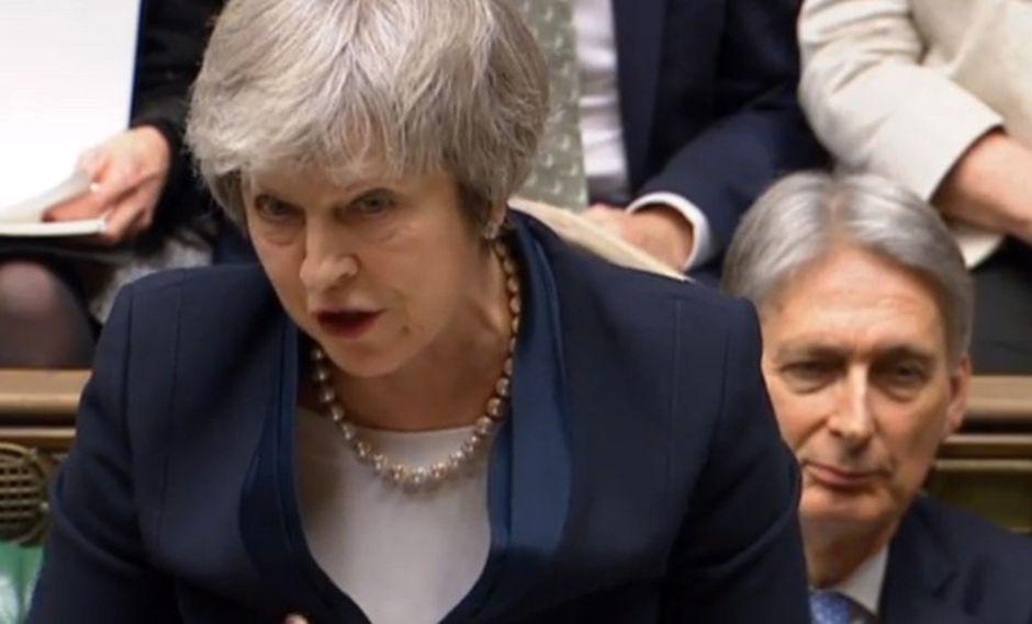 """La primera ministra mantuvo el domingo contactos con sus ministros de cara a la presentación hoy de su """"plan B"""". (Foto: EFE)"""