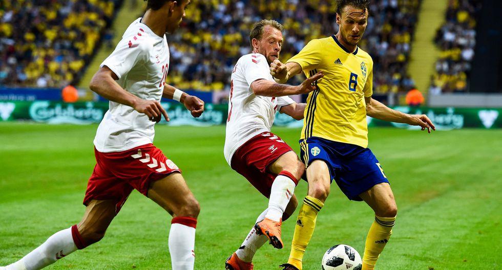 Dinamarca debutará ante Perú en el Mundial. (AFP)