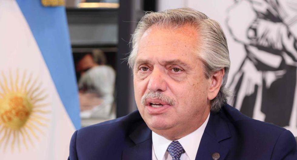 Imagen del presidente de Argentina, Alberto Fernández. (AFP).