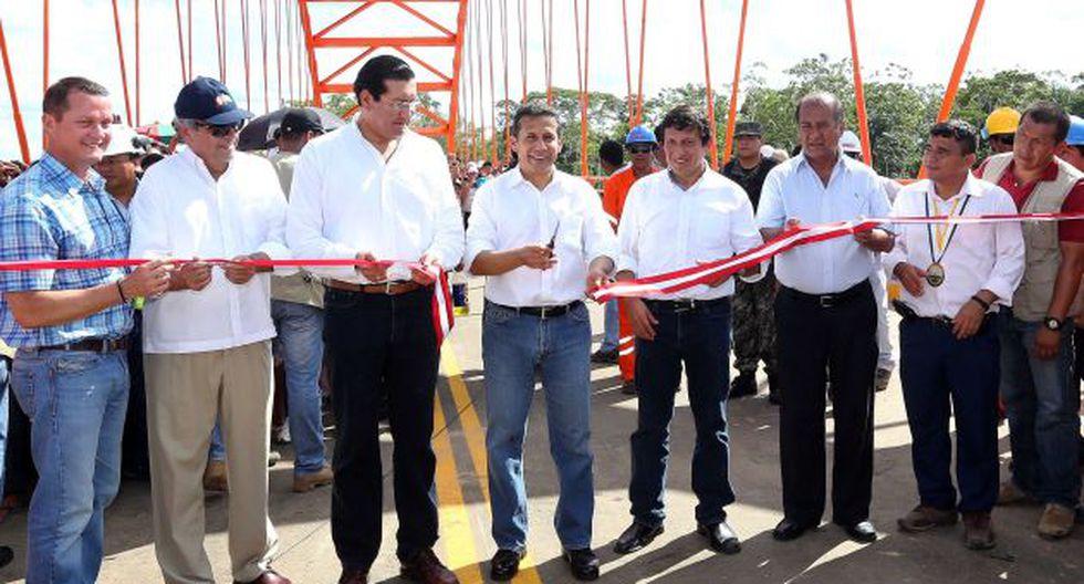 Ollanta Humala estuvo en Loreto inaugurando una obra. (Andina)