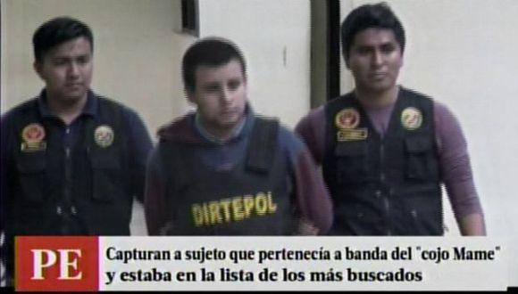 Sujeto que integraba la banda del 'Cojo Mame' y figuraba en la lista de 'Los más buscados' fue capturado en La Libertad. (Captura de video)