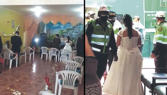 Huancayo: novios e invitados terminaron en la comisaría por realizar matrimonio evangélico (Foto: PNP)