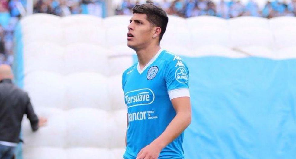 Hansell Riojas juega por Belgrano de Argentina. (Twitter)