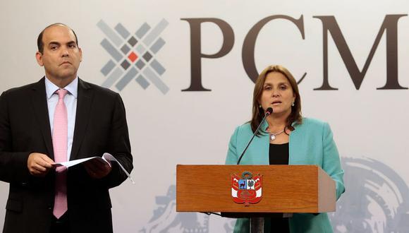 Norma que fortalece la UIF lleva la firma de PPK, Fernando Zavala y Marisol Pérez Tello. (Atoq Ramón)