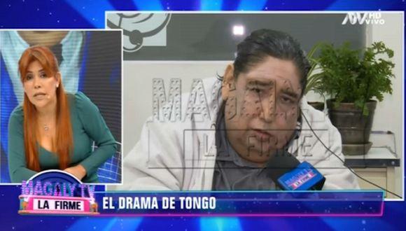 El cantante peruano tuvo una fuerte discusión con Magaly Medina en vivo.  (Captura de pantalla)