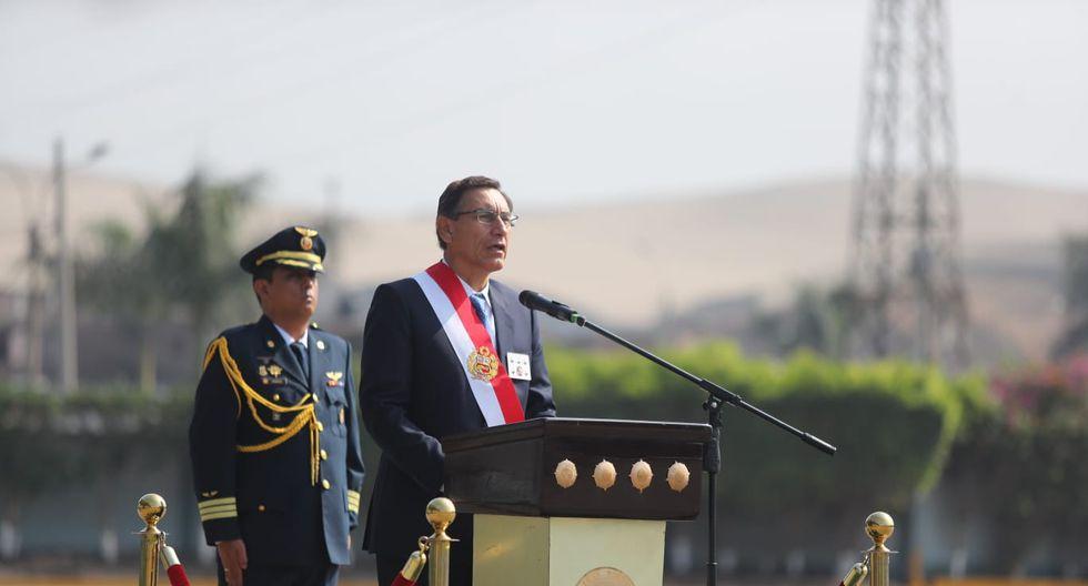 """""""Somos y seremos implacables con los malos elementos que deshonran a la institución policial"""", dijo Martín Vizcarra. (FOTO: Presidencia Perú)"""