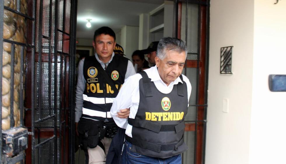 Alcalde provincial de Chiclayo, David Cornejo, fue detenido junto a 14 presuntos integrantes de la organización criminal 'Los temerarios del crimen'. (Foto: Ministerio Público)