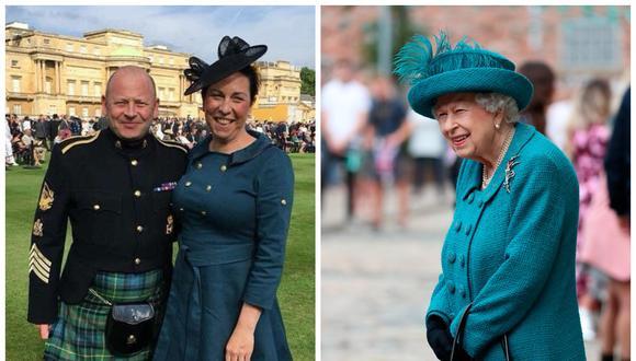 La reina Isabel II del Reino Unido y su exgaitero real Scott Methven. (Foto: Facebook | AFP)