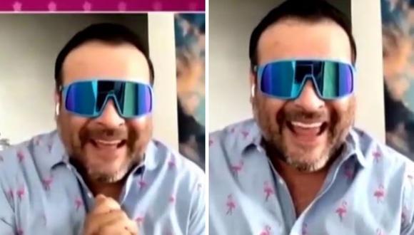 Juan Carlos Orderique se mostró emocionado por su regreso a las pantallas. (Foto: Captura América TV)